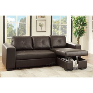 Bobkona Nathan Sleeper Sectional by Poundex