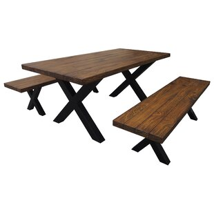 Rooker Indoor 3 Piece Dining Set Loon Peak