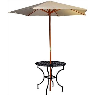 Shop For Easy to Assemble Iron Round Dining Table with 2.75 inch  Umbrella Holder Good purchase