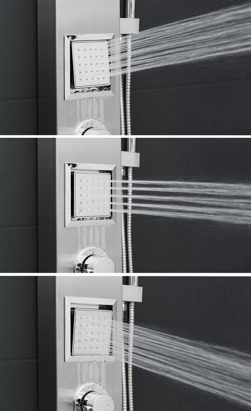 AKDY Dual Shower Head Shower Panel & Reviews   Wayfair