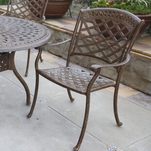 Lenahan Stacking Patio Dining Chair with Cushion