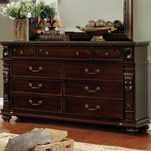Top Reviews Kelly Traditional 9 Drawer Dresser by Fleur De Lis Living