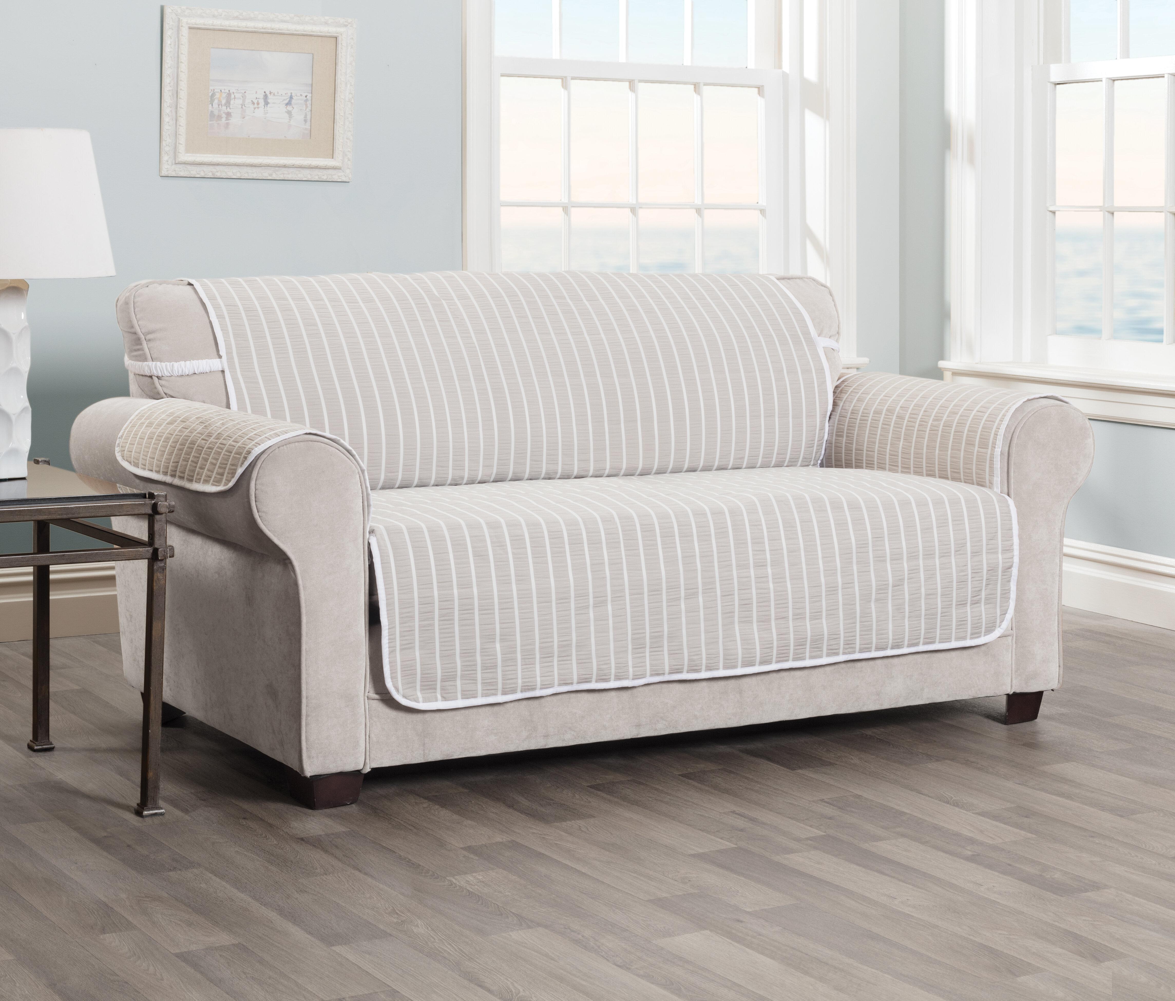 Amazing Harper Striped T Cushion Sofa Slipcover Uwap Interior Chair Design Uwaporg
