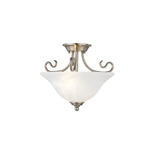 Lewisboro 2-Light Semi Flush M..