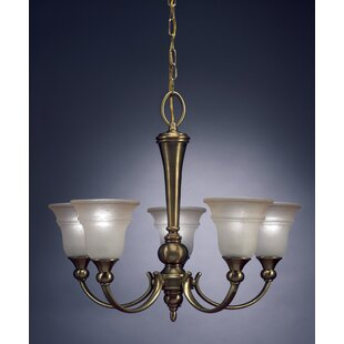 Reviews Rivard 5-Light Shaded Chandelier By Charlton Home