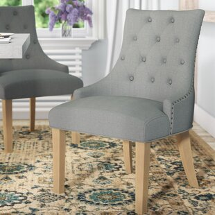 Miles City Button Tufted Wingback Hostess Upholstered Dining Chair (Set of 2) by Laurel Foundry Modern Farmhouse