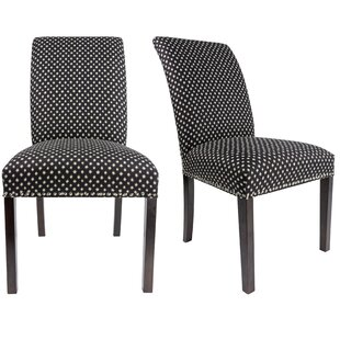 Francesca Curve Back Upholstered Parsons Chair (Set of 2) DarHome Co