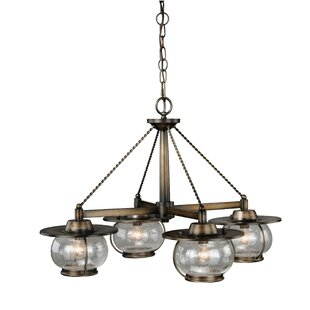 Williston Forge Karole 4-Light Shaded Chandelier