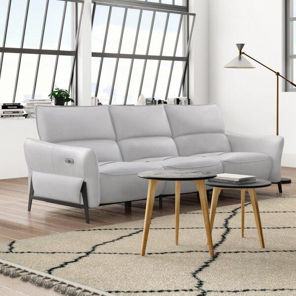Kash Leather Reclining Sofa Allmodern