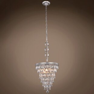 House of Hampton Flori Teardrop 3-Light Crystal Chandelier
