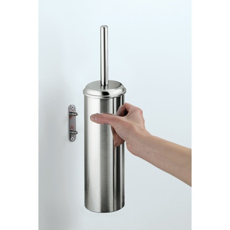 Gedy By Nameeks Ascot 14 96in H Wall Mounted Toilet Brush And Holder Wayfair