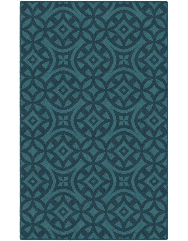 World Menagerie Merrill Trellis Turquoise Area Rug, Size: Rectangle 76 x 10