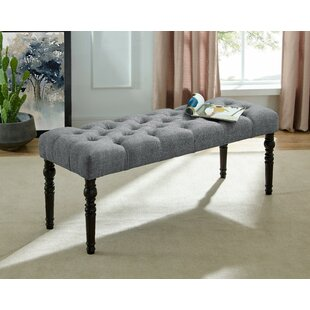 Evelin Tufted Upholstered Bench by Charlt..
