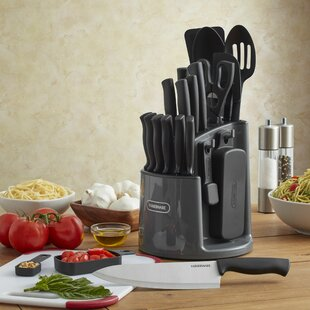 Spin and Store Caddy 13 Piece Knife Set with Storage