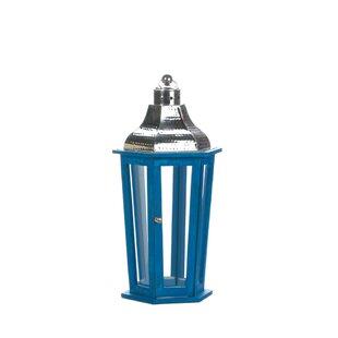 Azul Beach Wood Lantern by..