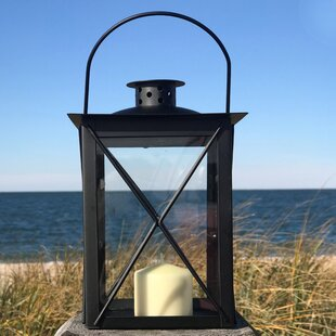 Urban Chic Industrial Cross Post Iron Lantern