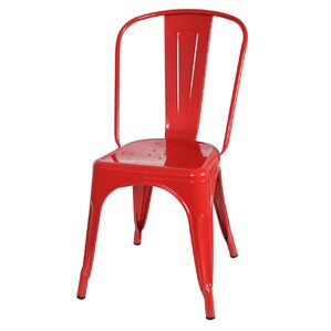 Industrial Metal Side Chair Stackable by PoliVaz