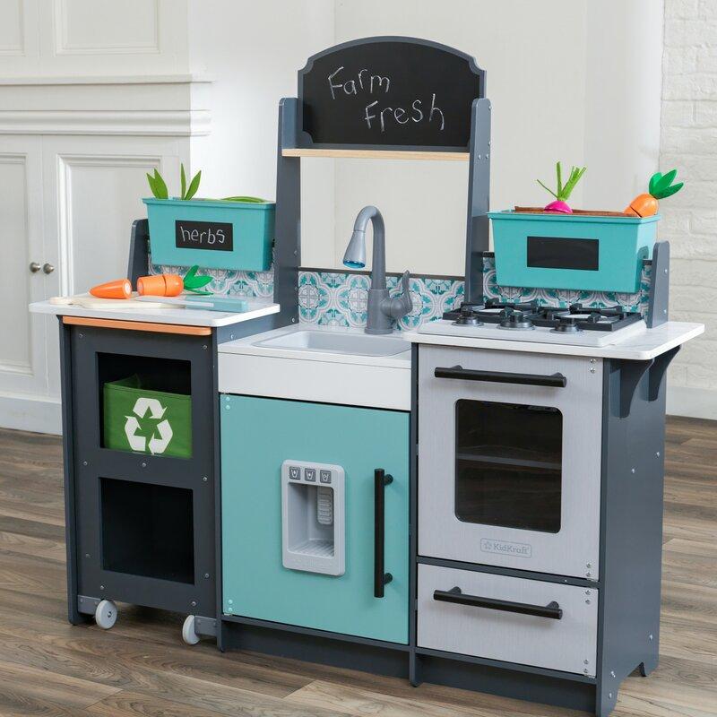 Kidkraft Garden Gourmet Play Kitchen Set Reviews Wayfair