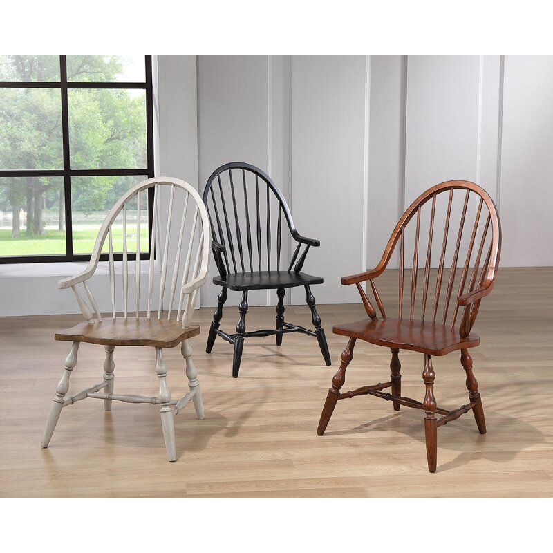Solid Wood Windsor Back Arm Chair