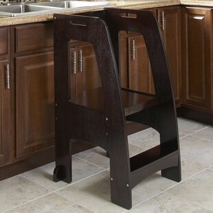 Kitchen Helper 2 Step Manufactured Wood Step Stool with 200 lb. Load  Capacity