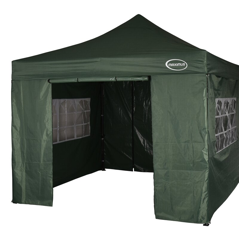 Lawrence 3m x 3m Stainless Steel Pop-Up Gazebo with Sidewalls