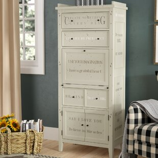 Luna 4 Drawer 3 Door Accent Cabinet by August Grove