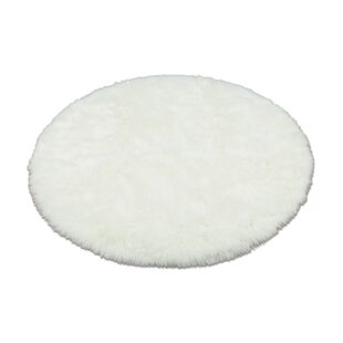 Great choice Animal Round White Area Rug By Walk On Me
