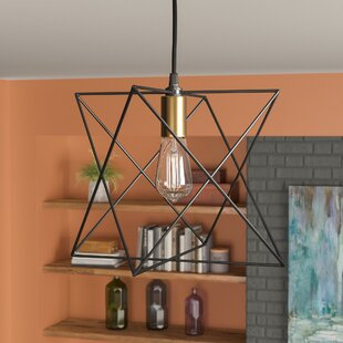 Best Reviews Quiros 1-Light Geometric Pendant By Mercury Row