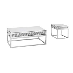 Everly Quinn Terrill 2 Piece Coffee Table Set