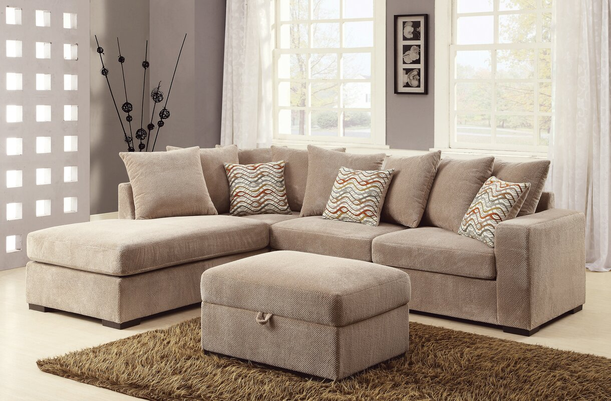 Albin Chaise Reversible Sectional : sectional with reversible chaise - Sectionals, Sofas & Couches
