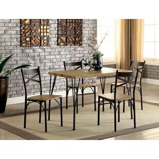 Balance 5 Piece Dining Set Gracie Oaks