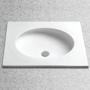 Toto Curve Vitreous China Circular Undermount Bathroom Sink with Overflow