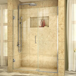 Unidoor Plus 53 x 72 Hinged Frameless Shower Door with Clearmax? Technology by DreamLine