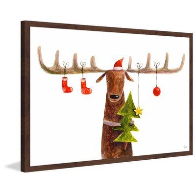 Cerf De Noel Joyeux Cerf De Noel II Framed Painting Print The Holiday Aisle