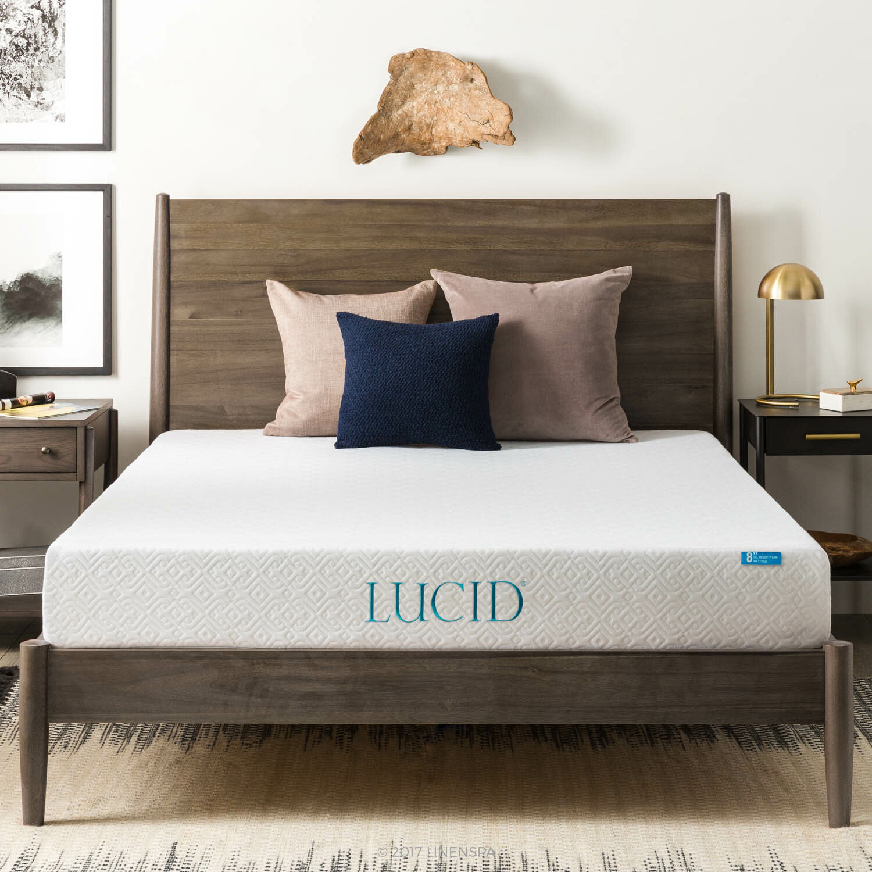 Lucid 8 Firm Gel Memory Foam Mattress Reviews Wayfair