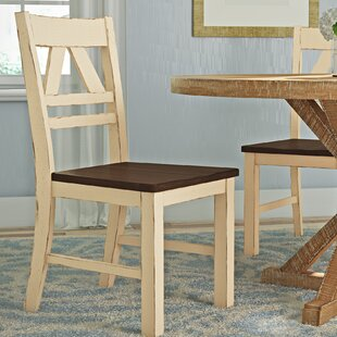 Fred Solid Wood Dining Chair (Set of 2) August Grove