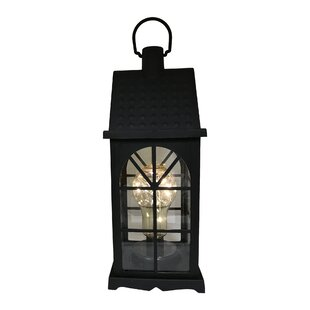 Charlton Home Maryam Battery-Operated 1 Light LED Outdoor Hanging Lantern