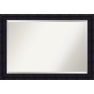 Darby Home Co Rectangle Annatto Mahogany Panel Accent Wall Mirror
