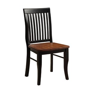Pedrina Solid Wood Dining Chair (Set of 2) Hokku Designs