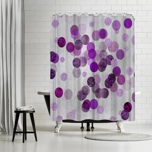 Lebens Art Shimmering Dots Single Shower Curtain