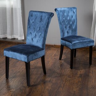 Craighead Upholstered Dining Side Chair (Set of 2) Mercer41