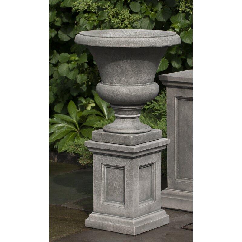 Campania International Inc Mt Airy 2 Piece Stone Urn Planter Set Wayfair