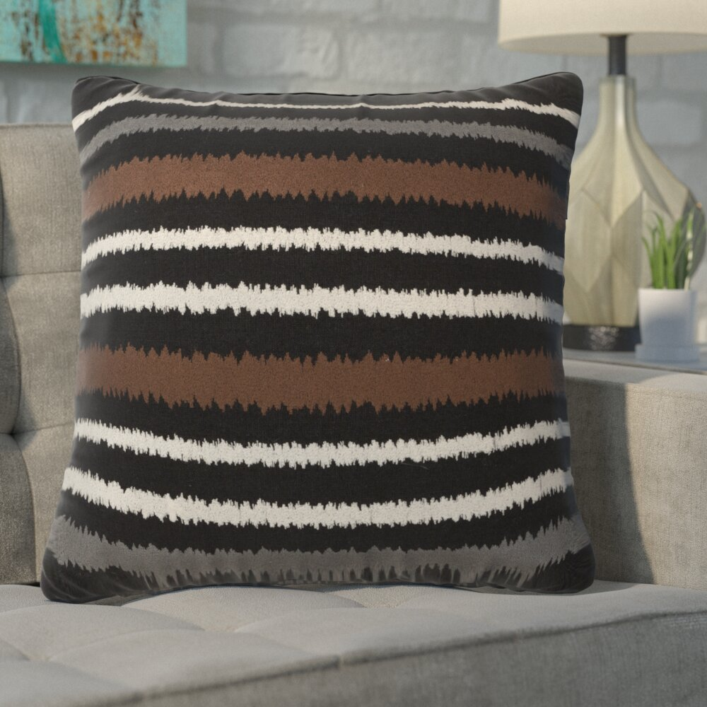 Ivy Bronx Aella Modern Vertical Stripe Linen Throw Pillow Wayfair