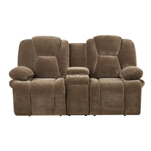 Carroll Motion Reclining Loveseat with Console by Red Barrel Studio