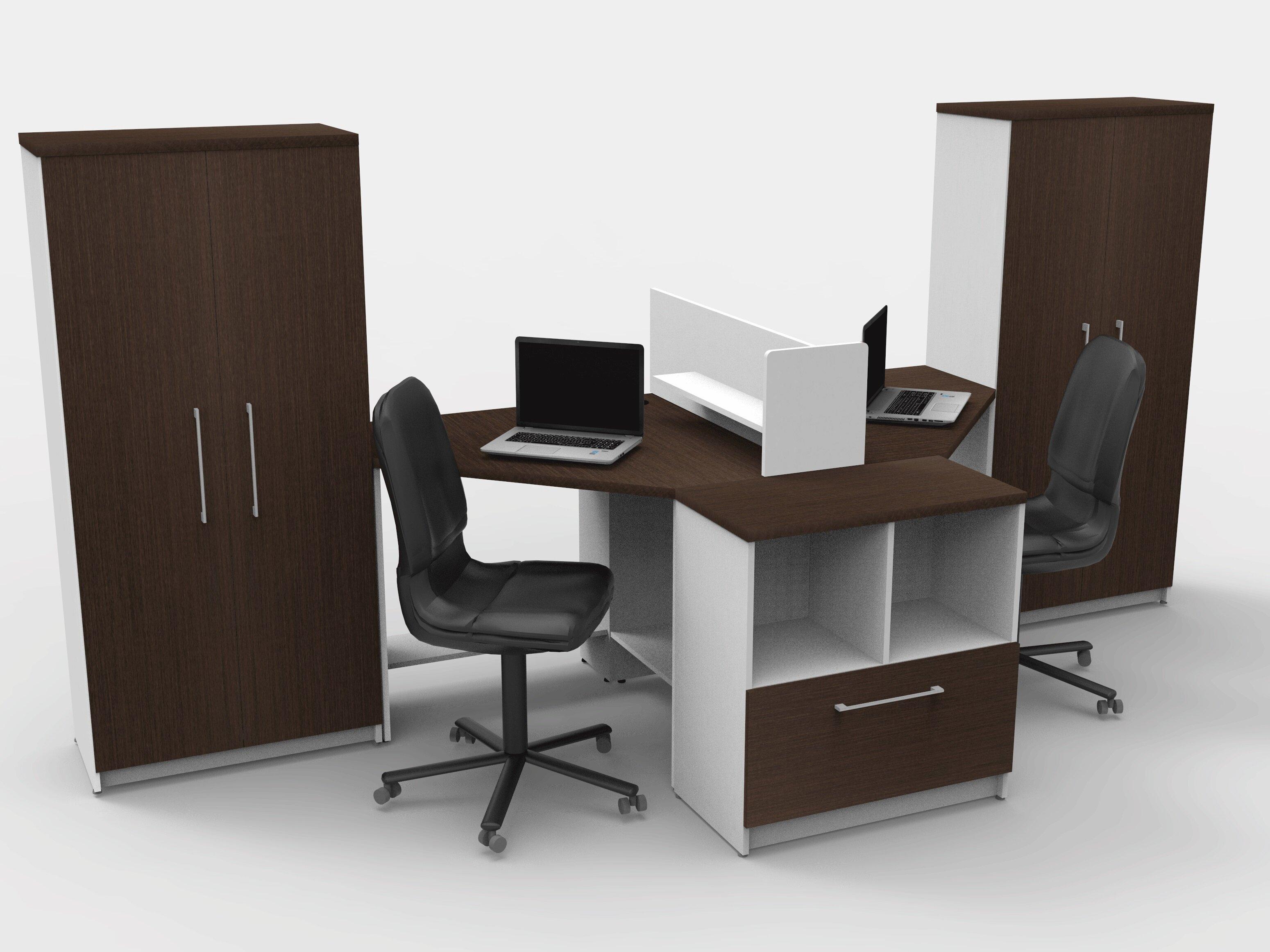 Beau TeamCENTERoffice Triangular Corner 6 Piece L Shaped Desk Office Suite |  Wayfair