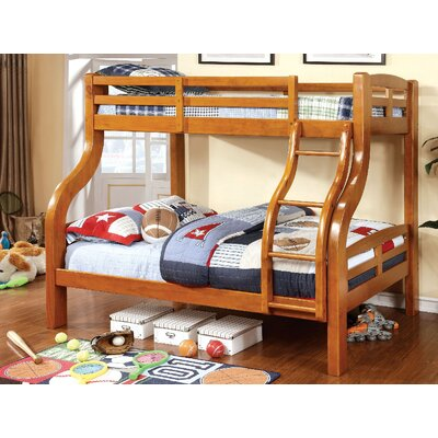 Crosby Twin Over Full Bunk Bed Harriet Bee Bed Frame Color: Oak