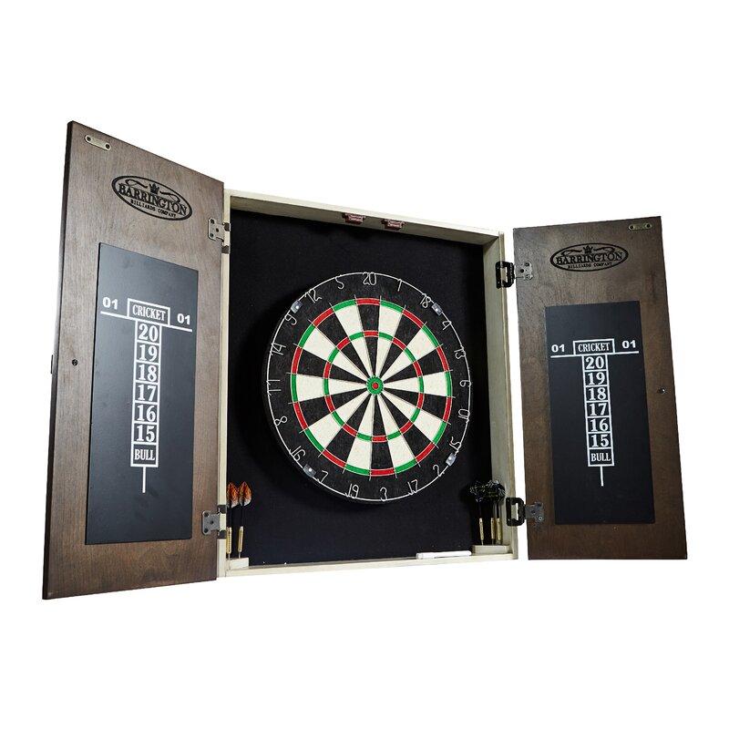 Bellevue Premium Bristle Dartboard and Cabinet Set with Darts