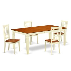 Beesley 5 Piece Rectangular Buttermilk/Cherry Dining Set by Darby Home Co