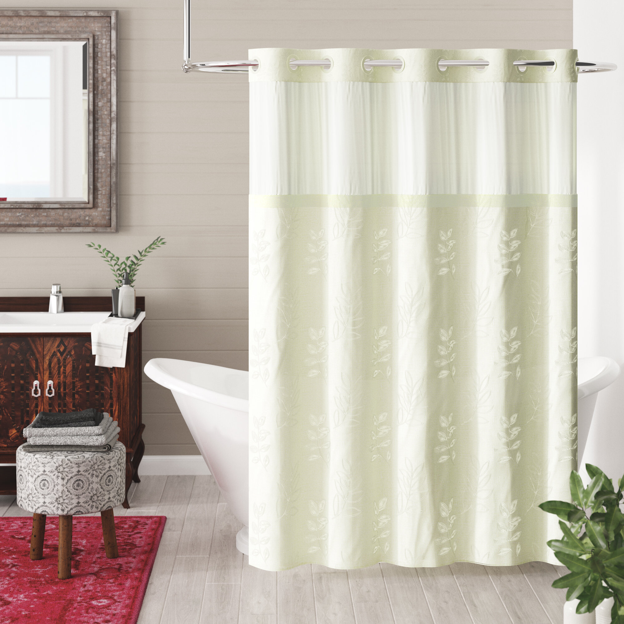 Bloomsbury Market Wilmington Palm Leaves Shower Curtain Reviews
