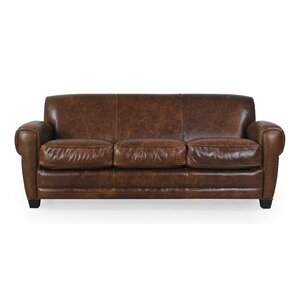 Leydy Top Grain Classical Sofa by 17 Stories